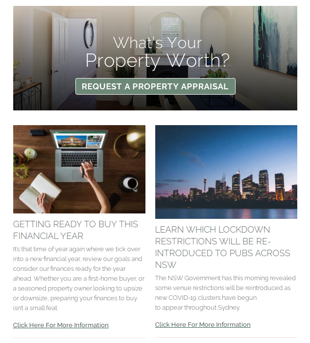 property newsletter example